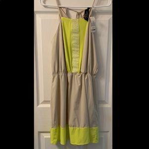 Nude/Citrus Summer Dress Size  NWT Medium